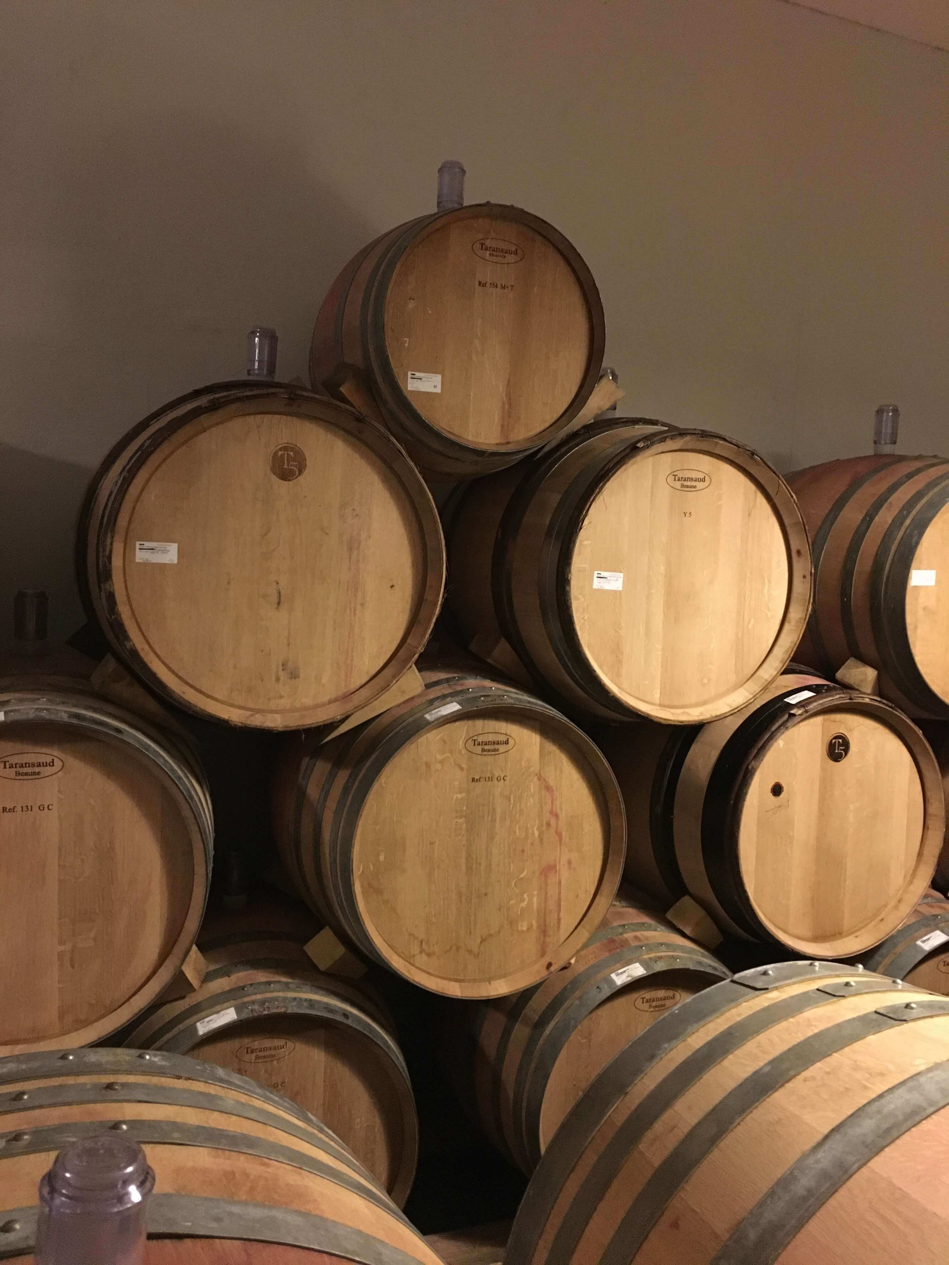 Wine aged in barrels in our cellar – Histoire d'Enfer